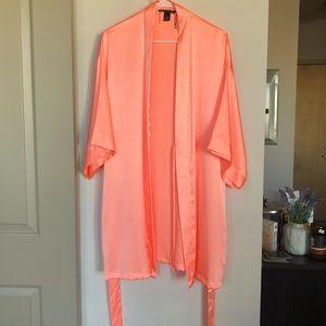Victoria's Secret Peach Satin Kimono